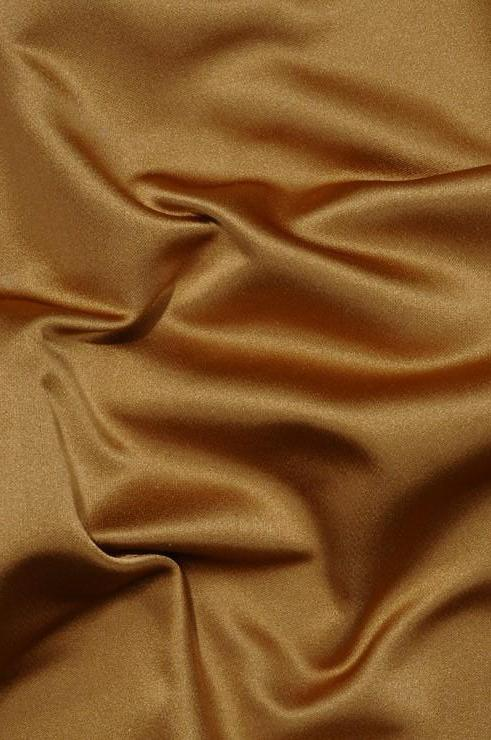 Gold Silk Duchess Satin Fabric