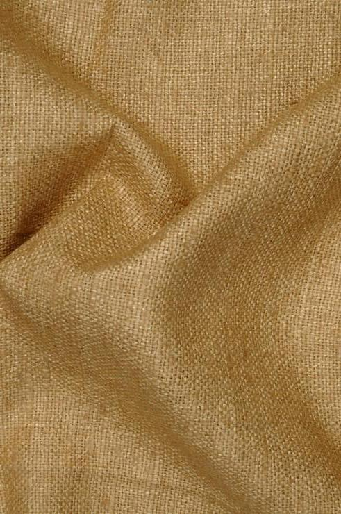 Gold Silk Linen (Matka) Fabric