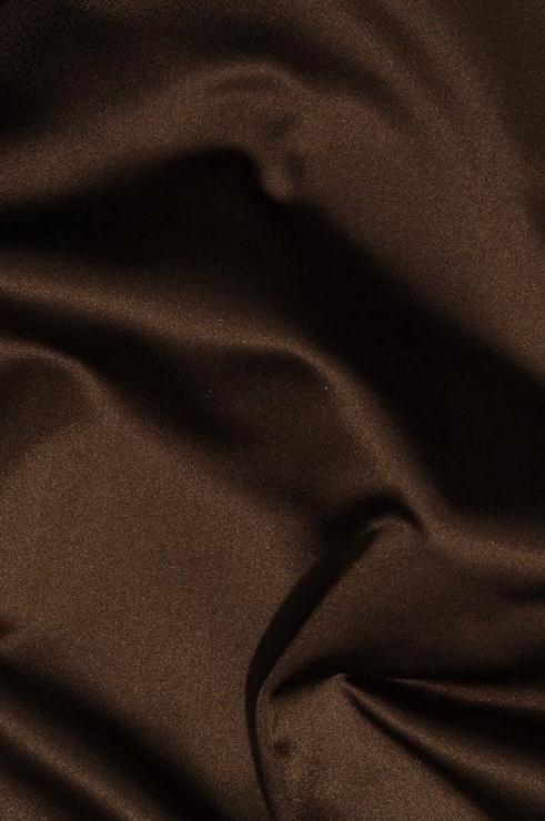 Golden Bronze Silk Duchess Satin Fabric
