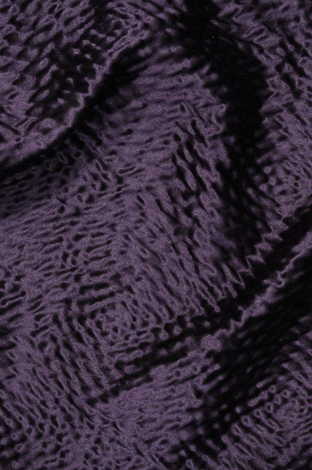 Grape Hammered Satin Fabric