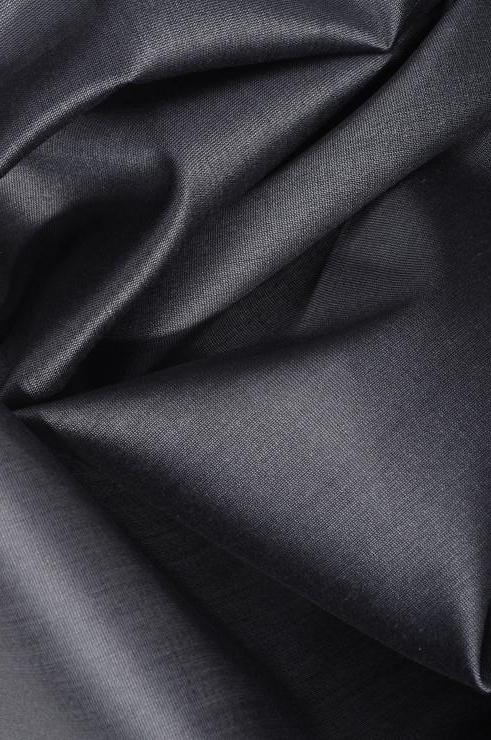 Graphite Grey Cotton Silk Fabric