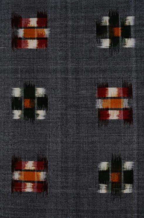 Gray Cotton Ikat 15 Fabric