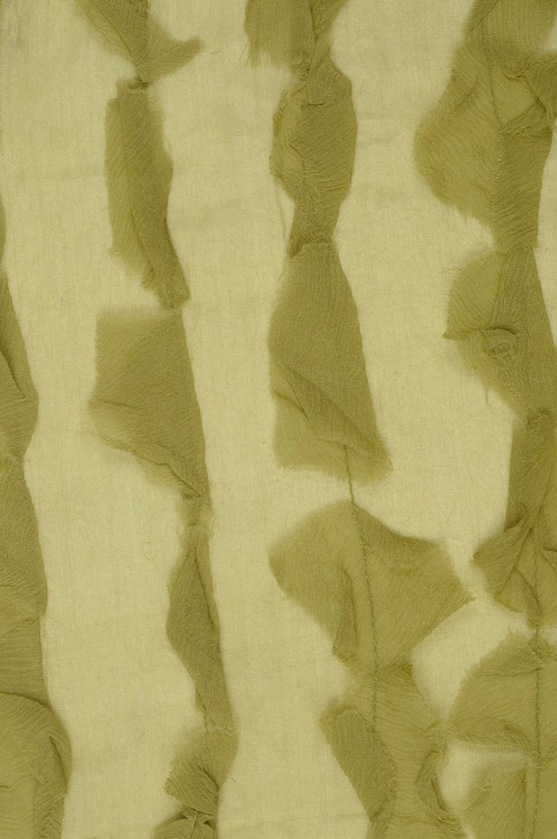 Green Spruce Silk Chiffon Petal 600 Fabric