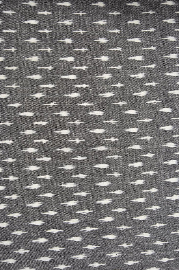 Grey Cotton Ikat 85 Fabric