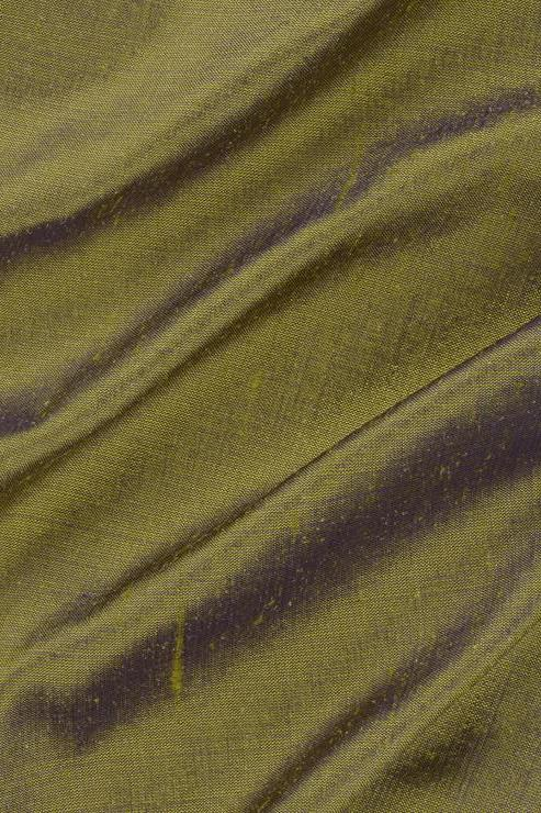 "Iguana Green Silk Shantung 54"" Fabric"