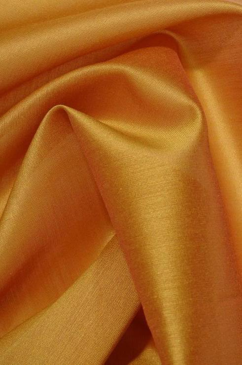 Inca Gold Cotton Silk Fabric
