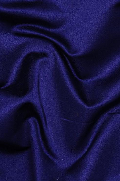 Indigo Silk Duchess Satin Fabric