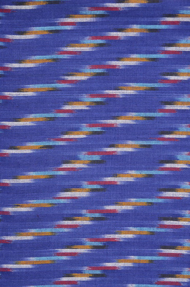 Indigo Cotton Ikat 026 Fabric
