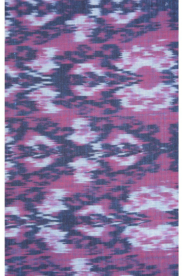 Indigo Cotton Ikat 066 Fabric