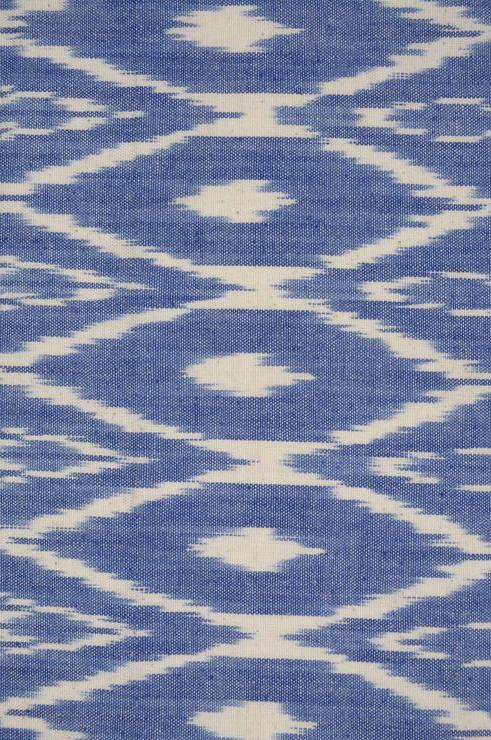 Ink Blue Cotton Ikat 60 Fabric