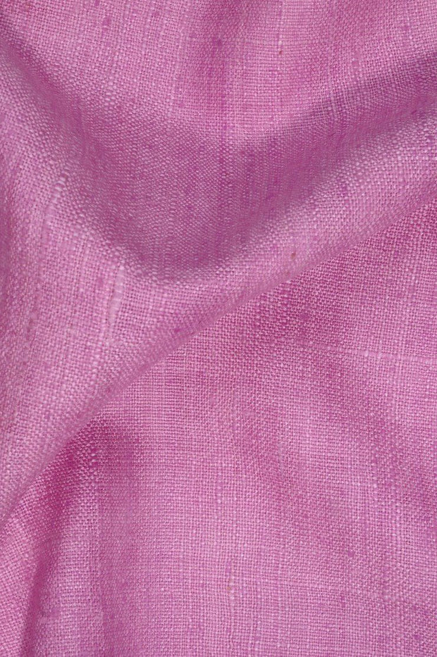 Lavender Rose Silk Linen (Matka) Fabric