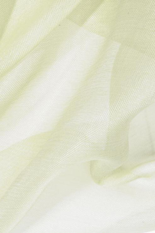 Lemon Grass Green Silk Organza Fabric