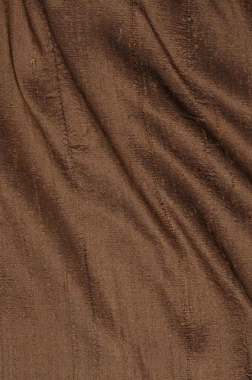 Light Brown Dupioni Silk Fabric