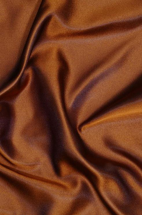 Light Brown Double Face Duchess Satin Fabric