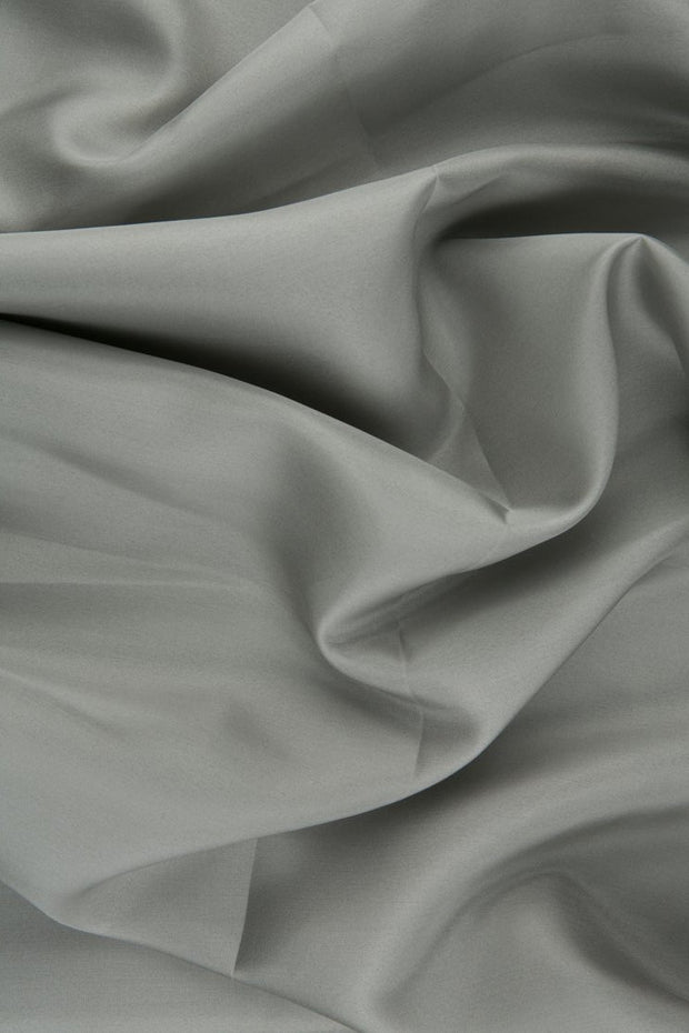 Light Gray Habotai Silk Fabric