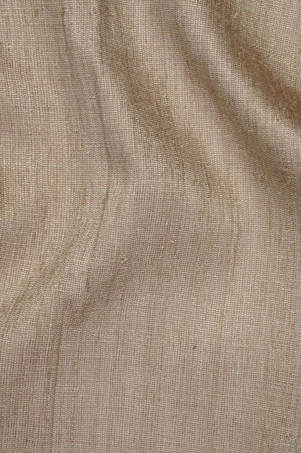 Light Taupe Katan Matka Silk Fabric