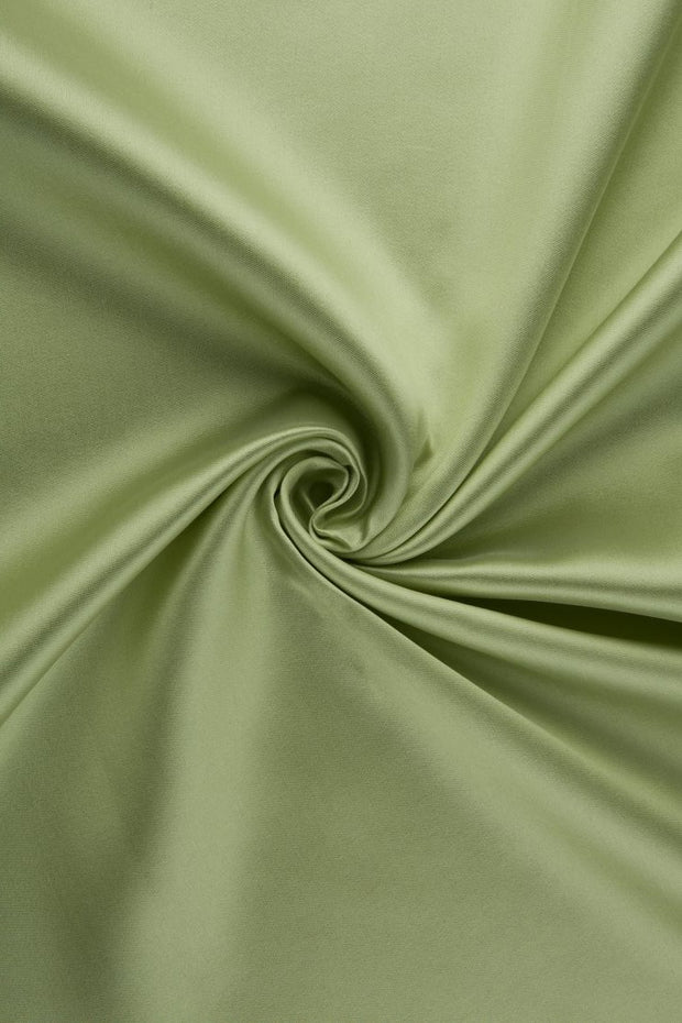 Lime Cream Green Silk Wool Fabric