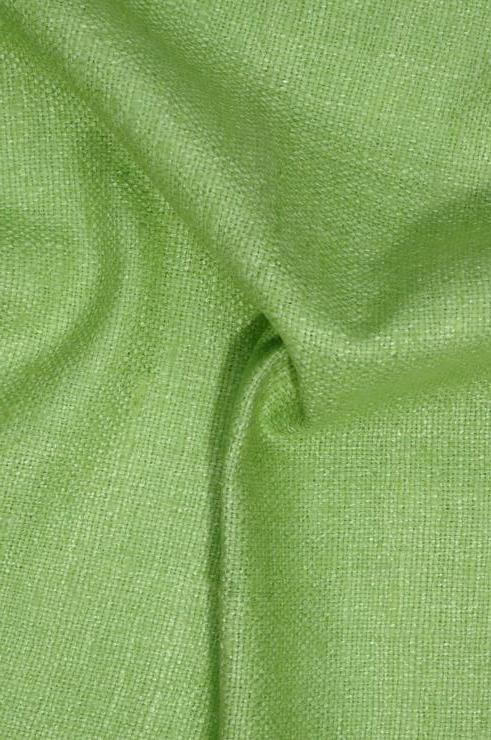 Lime Green Silk Linen (Matka) Fabric