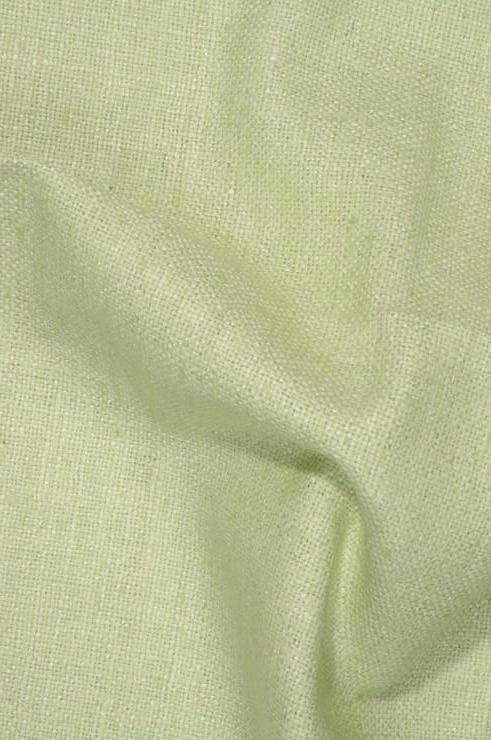 Lime Green Cream Silk Linen (Matka) Fabric
