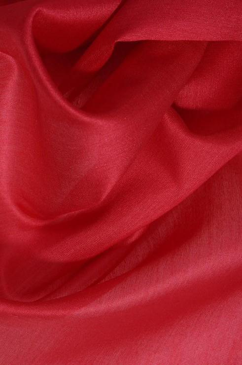 Lipstick Red Cotton Silk Fabric