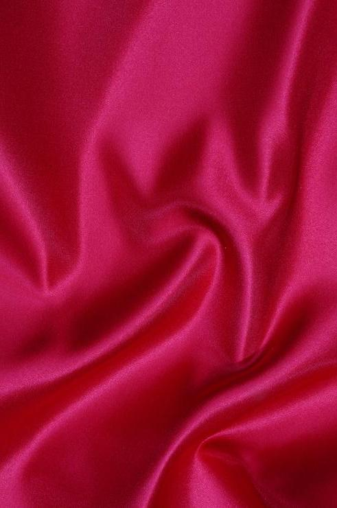Magenta Double Face Duchess Satin Fabric