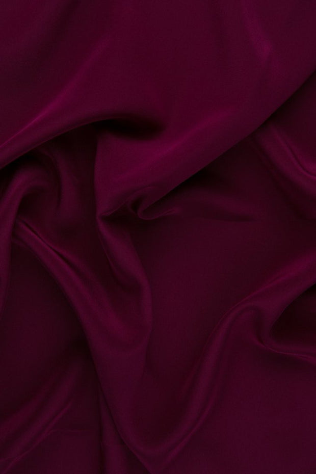 Magenta Purple Silk Crepe de Chine Fabric