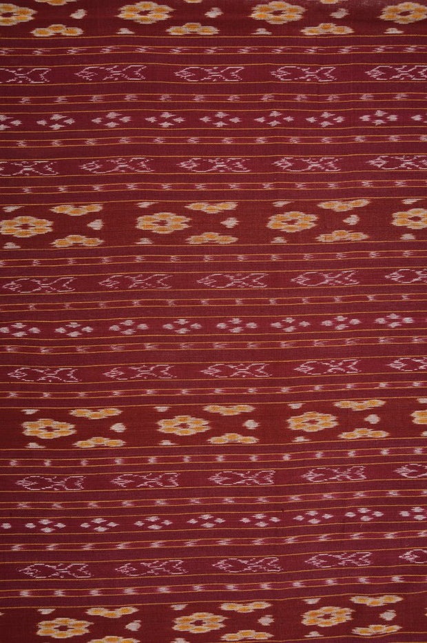 Maroon Cotton Ikat 137 Fabric