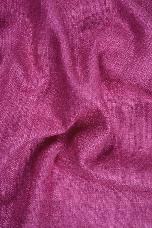 Merlot Red Silk Linen (Matka) Fabric