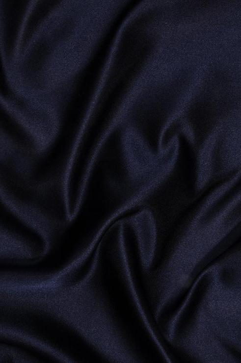 Midnight Blue Double Face Duchess Satin Fabric