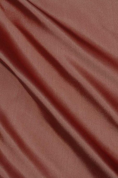 Mocha Brown Light Taffeta Silk Fabric