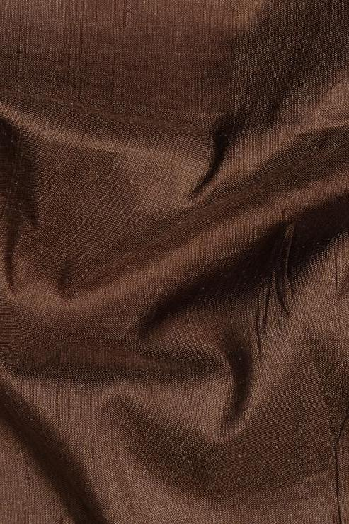 "Mocha Brown Silk Shantung 54"" Fabric"