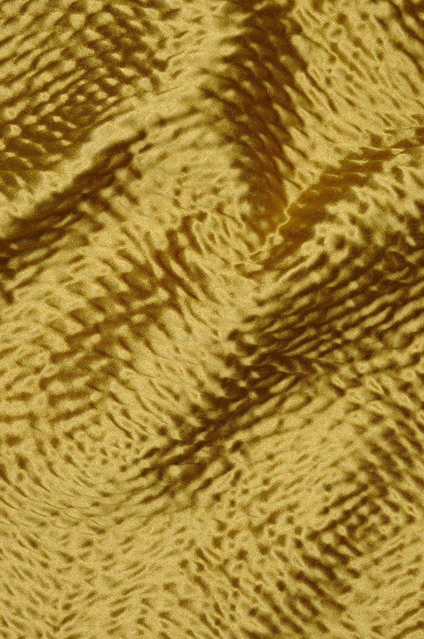 Mustard Gold Hammered Satin Fabric