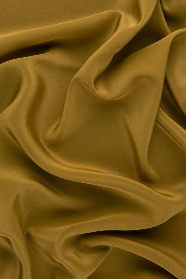 Mustard Gold Silk Crepe de Chine Fabric