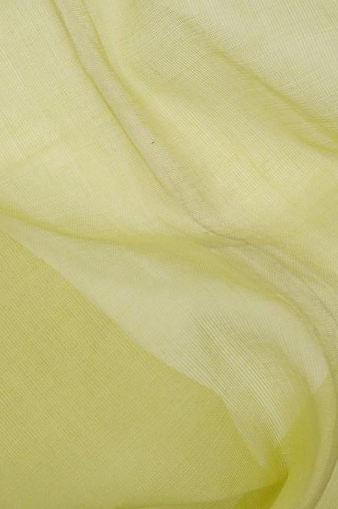 Muted Lime Cotton Voile Fabric