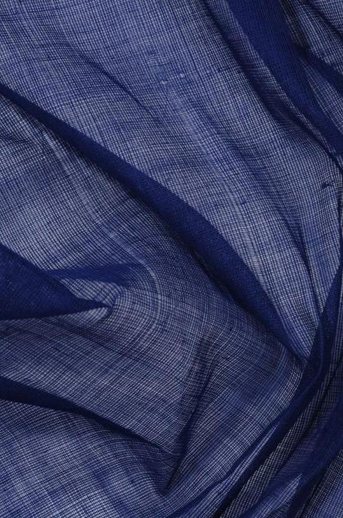 Nautical Blue Cotton Voile Fabric
