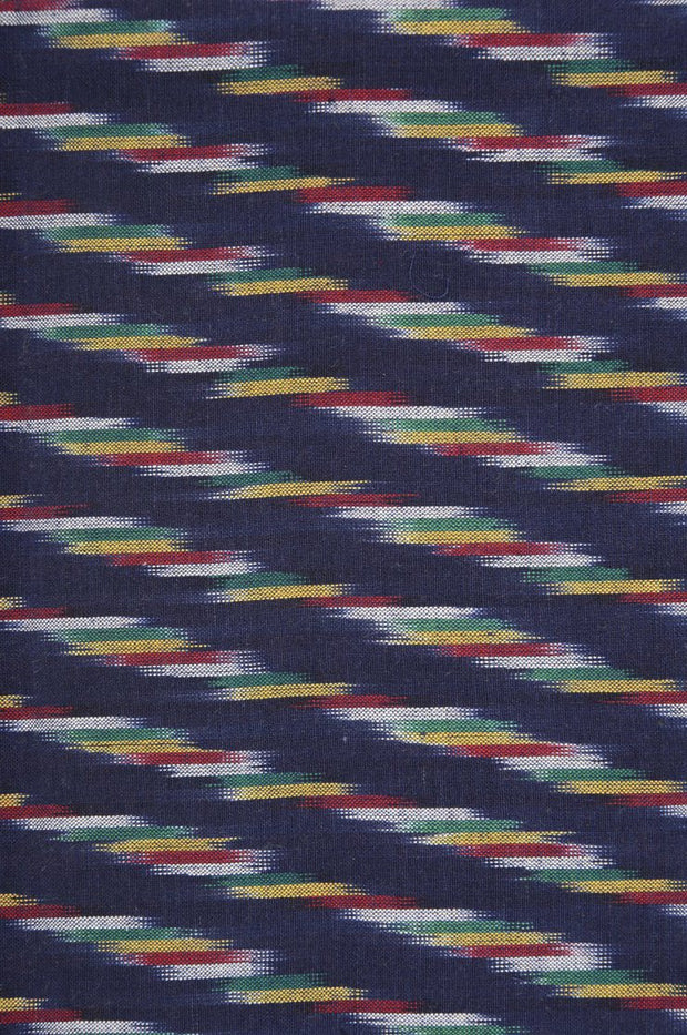 Navy Cotton Ikat 26 Fabric