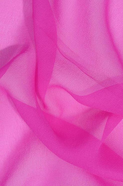 Neon Pink Silk Georgette Fabric
