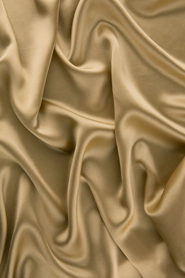 New Wheat Charmeuse Silk Fabric