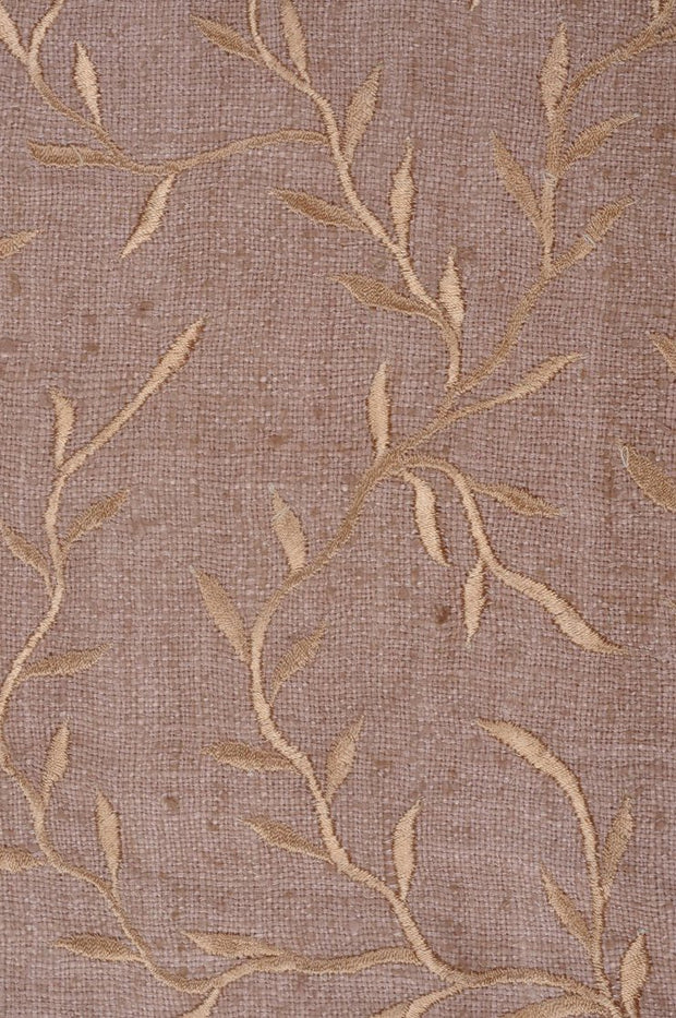 Nude Embroidered Raw Silk 300 Fabric
