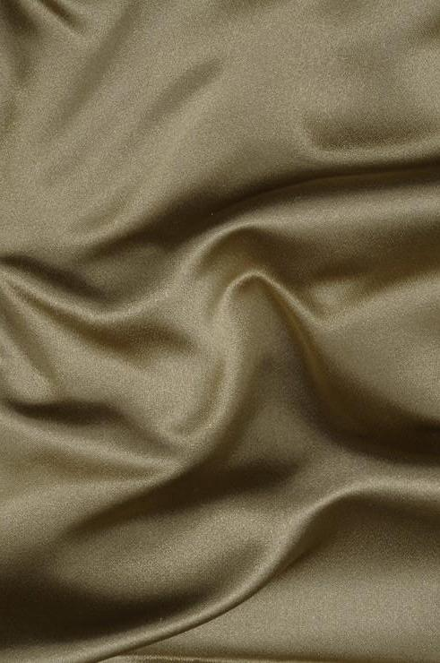 Olive Green Silk Duchess Satin Fabric