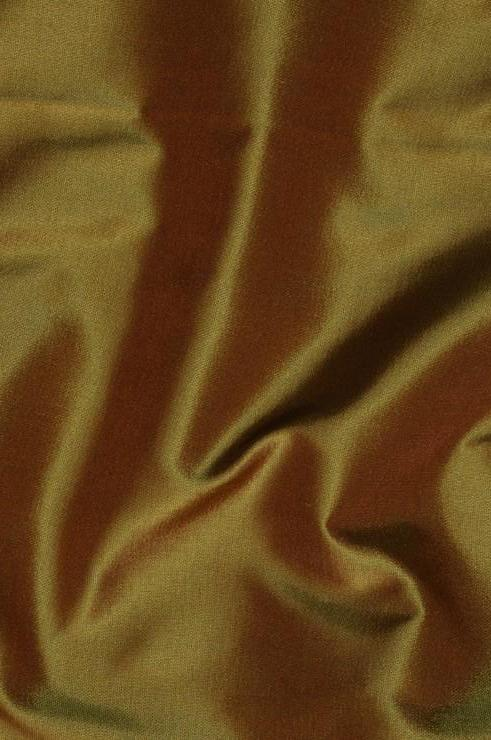 Olive Green Taffeta Silk Fabric