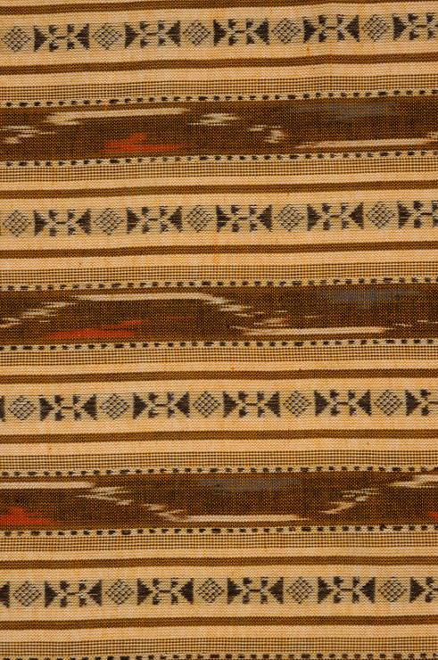 Orange Gold Cotton Ikat 30 Fabric