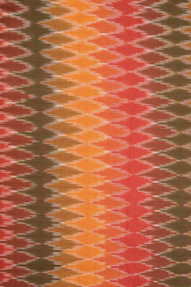Multi-Color Cotton Ikat 113 Fabric