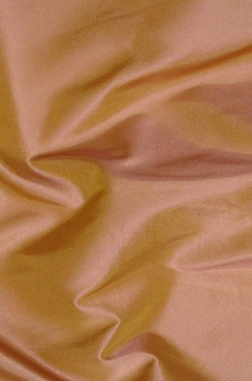 Orange Peach Taffeta Silk Fabric