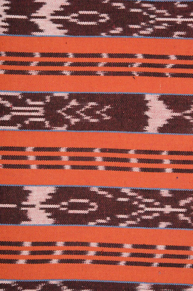 Orange-Red Cotton Ikat 44 Fabric