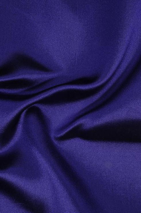 Orient Blue Silk Zibeline Fabric