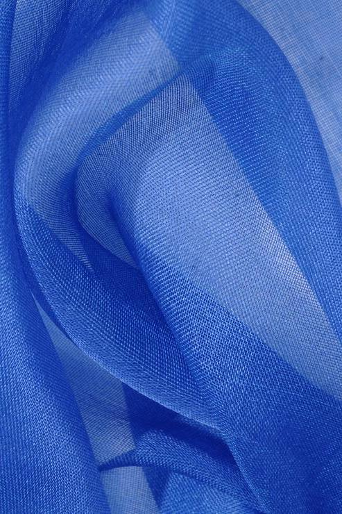 Pacific Blue Silk Organza Fabric