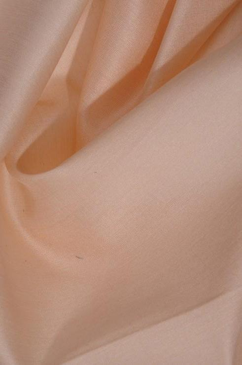 Peach Cotton Silk Fabric