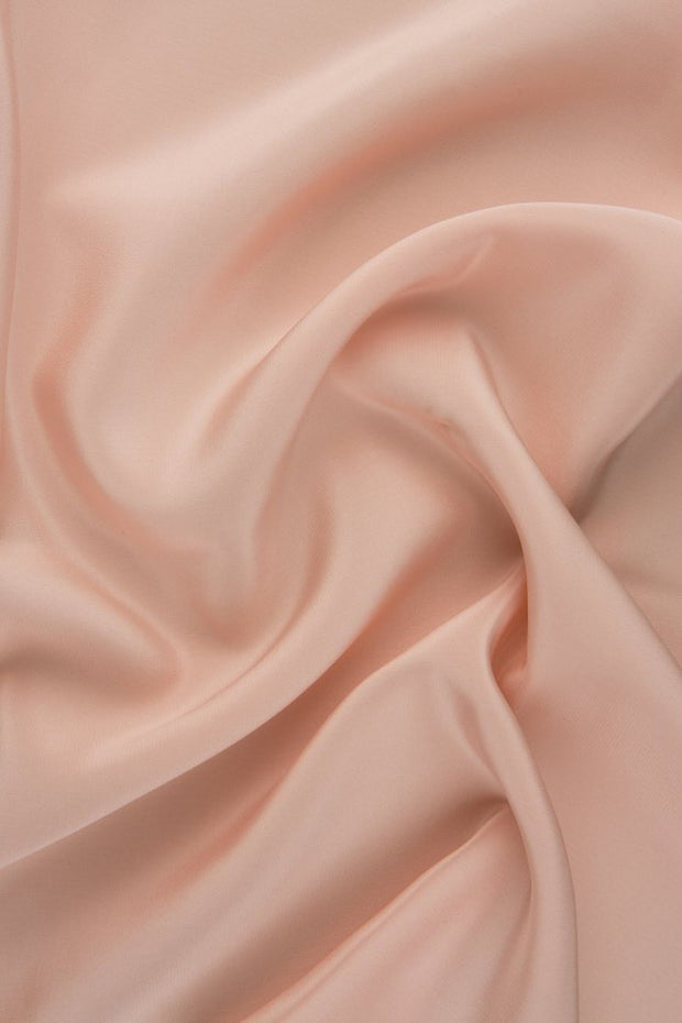 Peachy Pink Silk Crepe de Chine Fabric