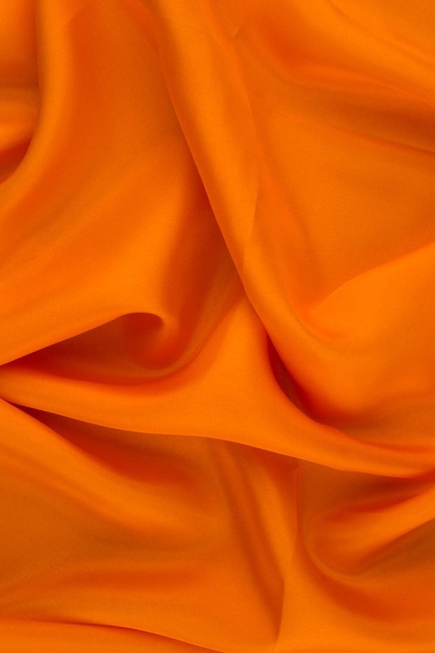 Persimmon Habotai Silk Fabric